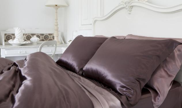 Juegos de s banas de seda descuentos en juegos de cama de seda de morera king in chocolate - Sabanas de seda precio ...